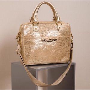 Carmen Steffens Metallic Gold Ultimate Laptop Bag